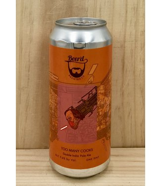 Beer'd Too Many Cooks DIPA 16oz can 4pk
