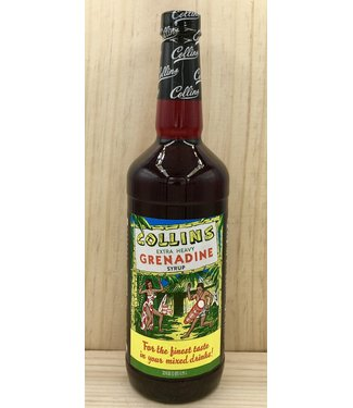 Collins Grenadine Syrup (real sugar) 32oz