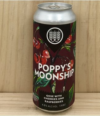 Schilling Poppy's Moonship gose w/ cherries and raspberries 16oz can 4pk