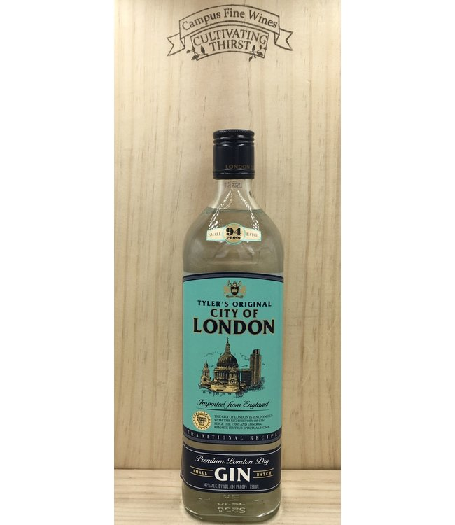 Tylers City of London Gin 750ml