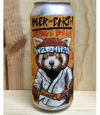 Beer on Earth Orange Belt IPA 16oz can 4pk