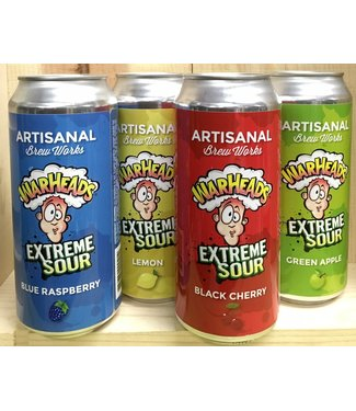 Artisanal Warheads Extreme Sour 16oz can variety 4pk