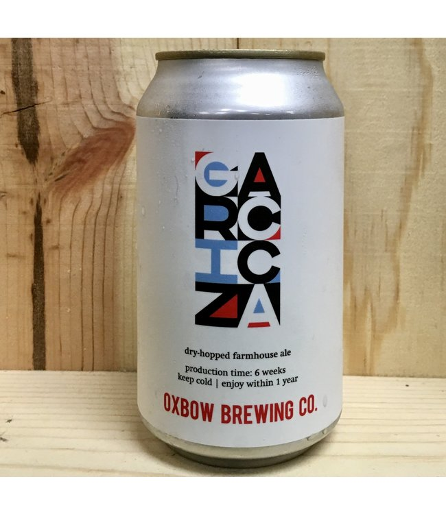 Oxbow Grizacca dry-hopped farmhouse 12oz can 4pk