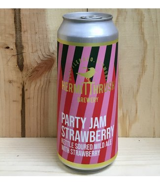 Hermit Thrush Party Jam Strawberry 16oz can 4pk
