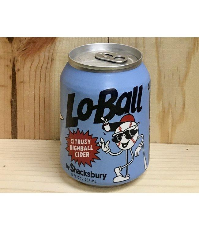 Shacksbury Lo-Ball Citrusy Highball Cider 8oz can 6pk