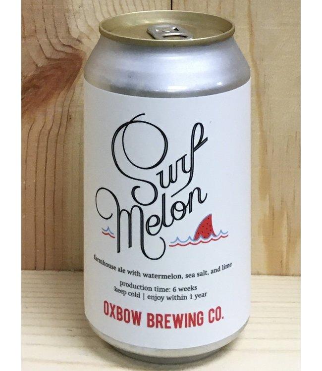 Oxbow Surf Melon ale with watermelon salt & lime 12oz can 4pk