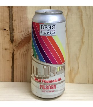 Beer on Earth W. Fountain St. Pilsner 16oz can 4pk