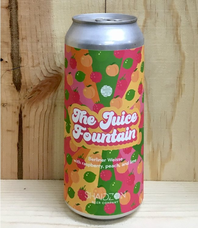 Shaidzon The Juice Fountain fruited Berliner Weisse 16oz can 4pk