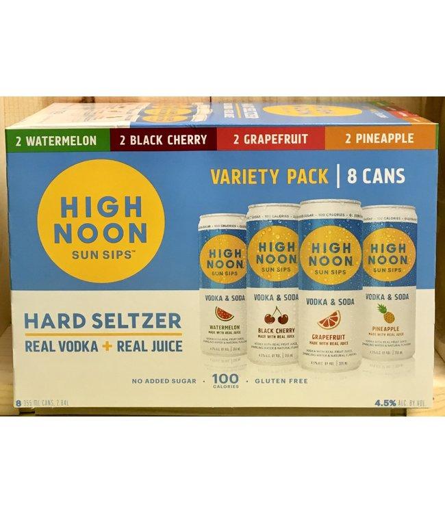 High Noon Hard Seltzer 12oz can variety 8pk