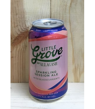 Allagash Little Grove session ale with blackcurrents 12oz can 6pk
