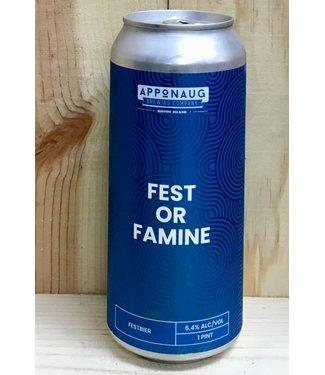 Apponaug Fest or Famine 16oz can 4pk