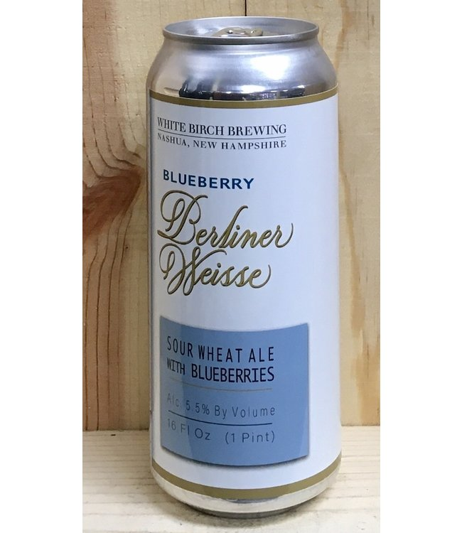 White Birch Blueberry Berliner Weiss 16oz can 4pk