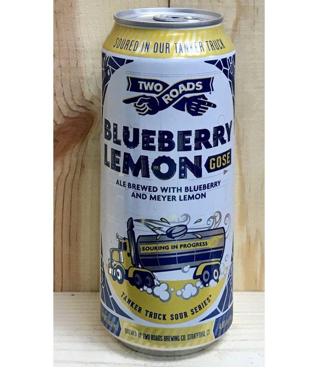 Two Roads Blueberry Lemon Gose 16oz can 4pk