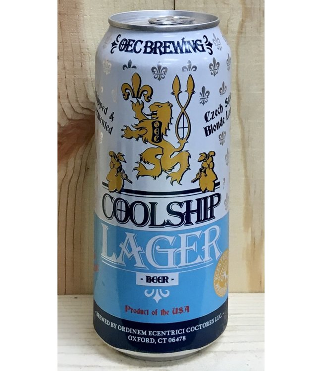 OEC Coolship Lager Czech style blonde 16oz can 4pk