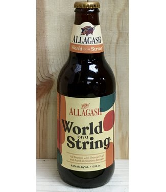 Allagash World on a String barrel-aged ale w/ orange peel 12oz bottle 4pk