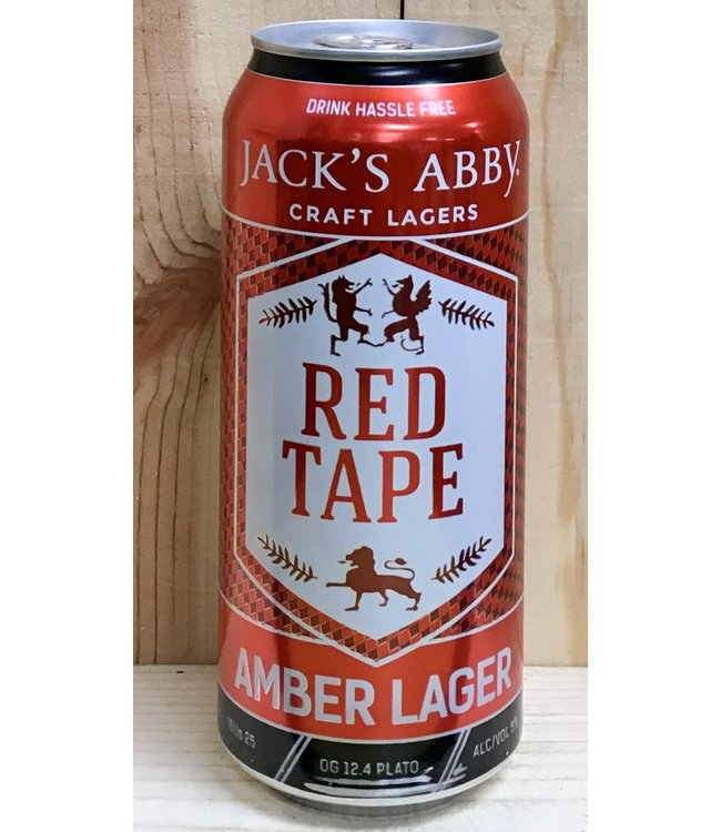 Jack's Abby Red Tape amber lager 16oz can 4pk
