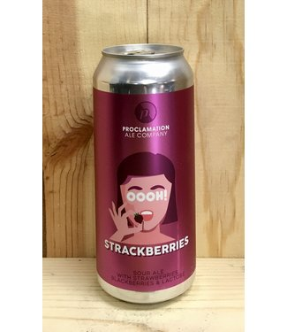 Proclamation OOOH! Strackberries  sour ale 16oz can 4pk