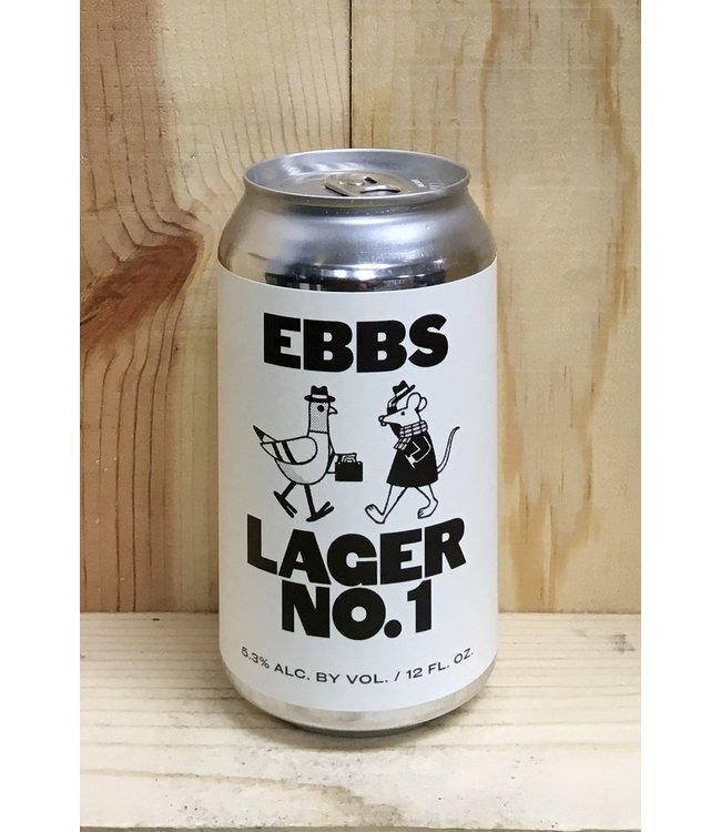 Ebbs Lager No. 1 12oz can 6pk