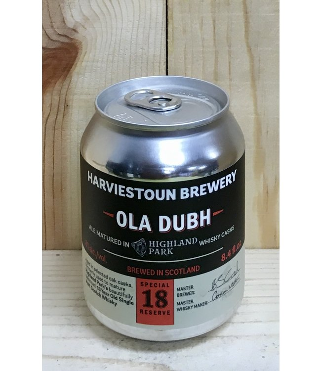 Harviestoun Ola Dubh ale aged in 18yr Highland Park barrels 8oz can single