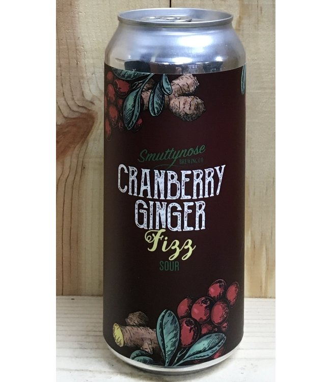 Smuttynose Cranberry Ginger Fizz sour ale 16oz can 4pk