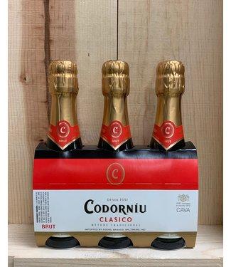 Codorniu Clasico Cava 187ml bottle 3pk