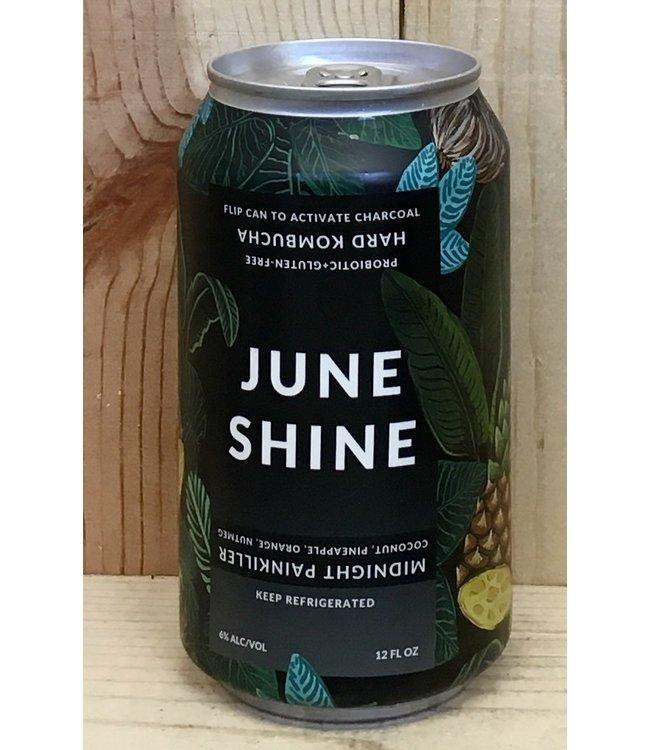 June Shine Midnight Painkiller hard kombucha 12oz can 6pk
