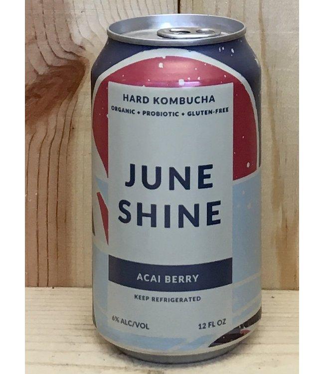 June Shine Acai Berry hard kombucha 12oz can 6pk