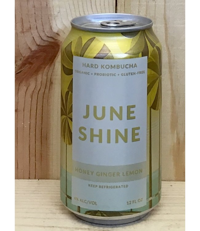 June Shine Honey Ginger Lemon hard kombucha 12oz can 6pk