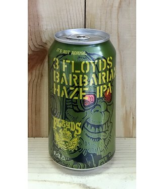 3 Floyds Barbarian Haze IPA 12oz can 6pk