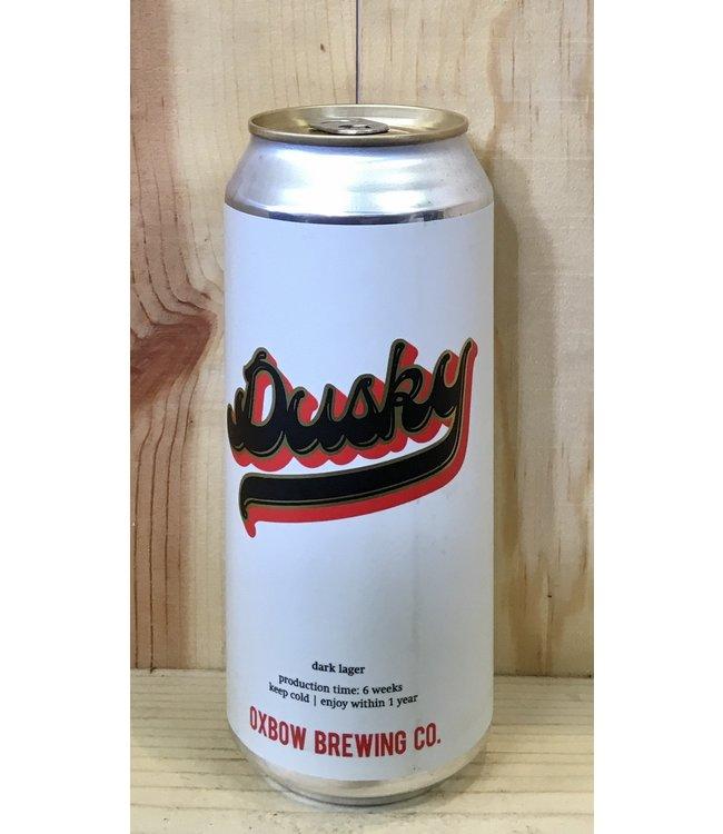 Oxbow Dusky dark lager 16oz can 4pk