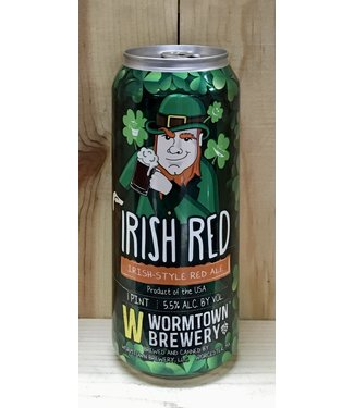 Wormtown Irish Red ale 16oz can 4pk