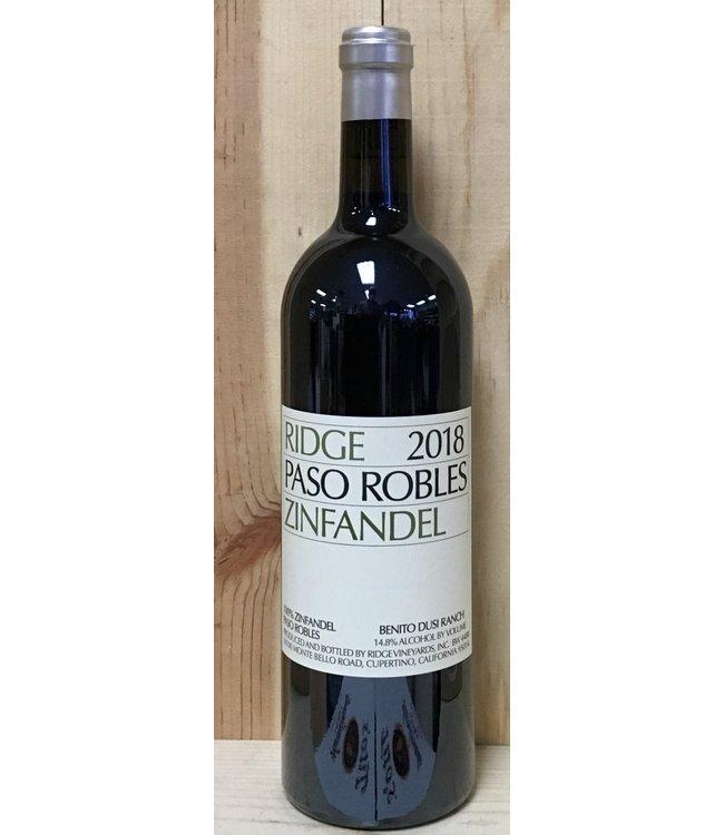 Ridge Paso Robles Zinfandel 2018