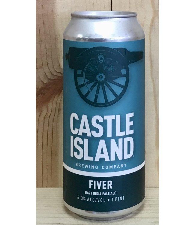 Castle Island Fiver hazy IPA 16oz can 4pk