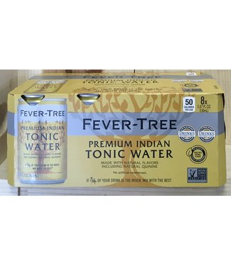Fever Tree Premium Indian Tonic Water 8pk 150ml Cans