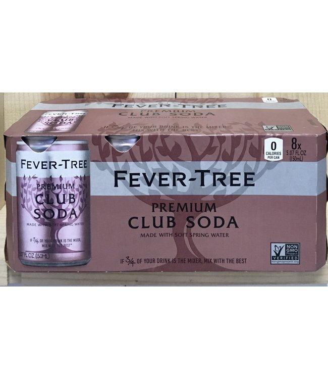Fever Tree Premium Club Soda 8pk 150ml cans