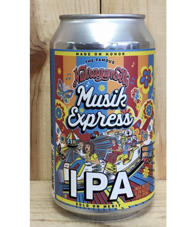 Narragansett Musik Express IPA 12oz can 6pk