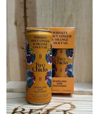 Two Chicks sparkling New Fashioned whiskey cocktail 12oz can 4pk