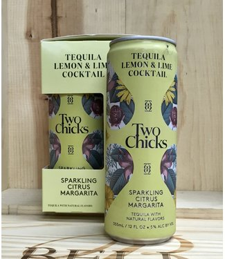 Two Chicks sparkling Citrus Margarita tequila lime cocktail 12oz can 4pk
