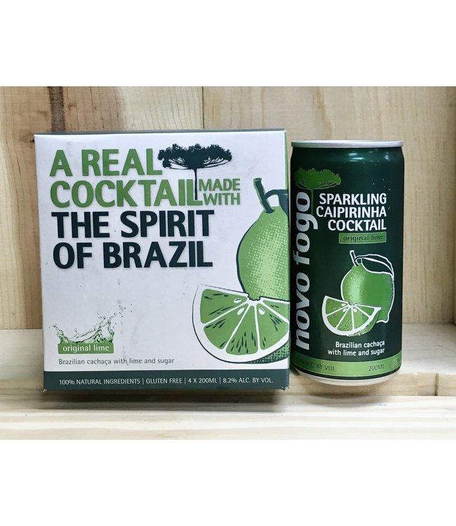 Novo Fogo sparkling lime caipirinha cocktail 200ml can 4pk