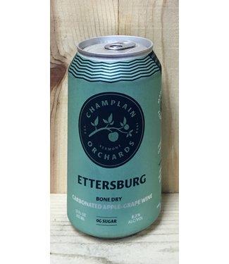 Champlain Ettersburg dry carbonated apple-grape wine 12oz can 4pk