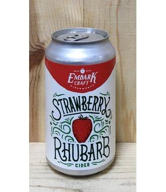 Embark Strawberry Rhubarb cider 12oz can 4pk