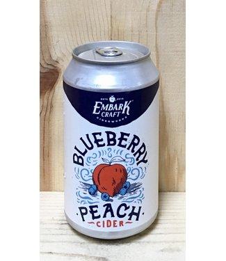 Embark Blueberry Peach cider 12oz can 4pk