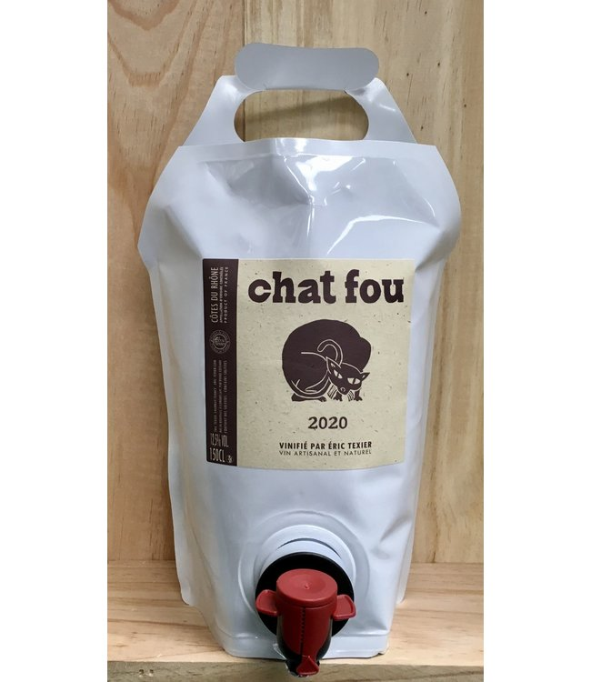 Eric Texier Chat Fou Rouge 2020 1.5lt Pouch