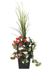 "Veronneau 40"" outdoor red & white geranium planter"