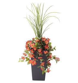 "Veronneau 40"" outdoor orange hibiscus planter"