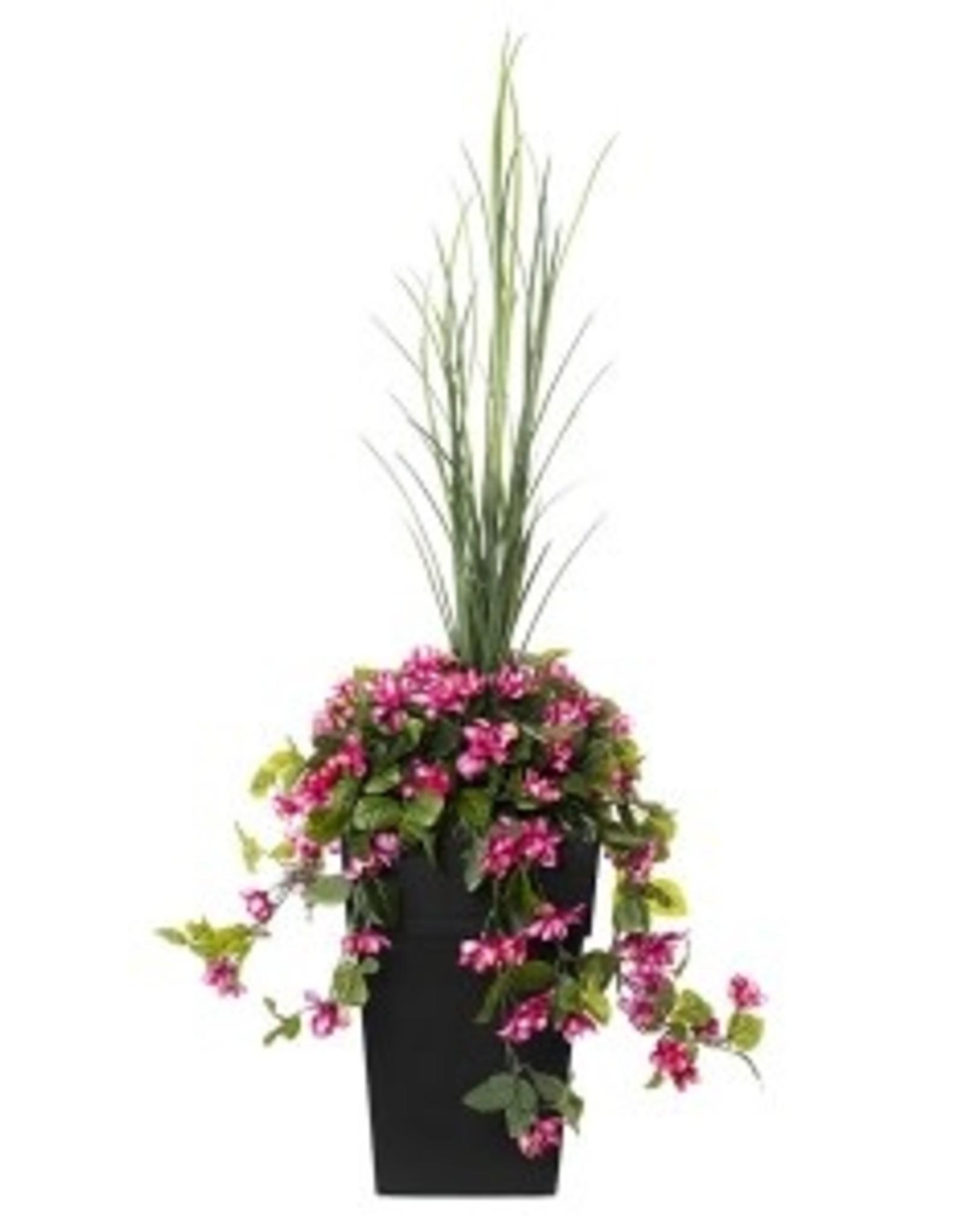 Veronneau 40'' Outdoor orange & pale pink azalea planter