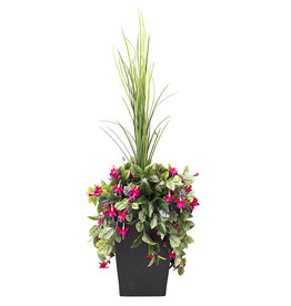 "Veronneau 40"" Outdoor arrangement of pink bleeding hearts"