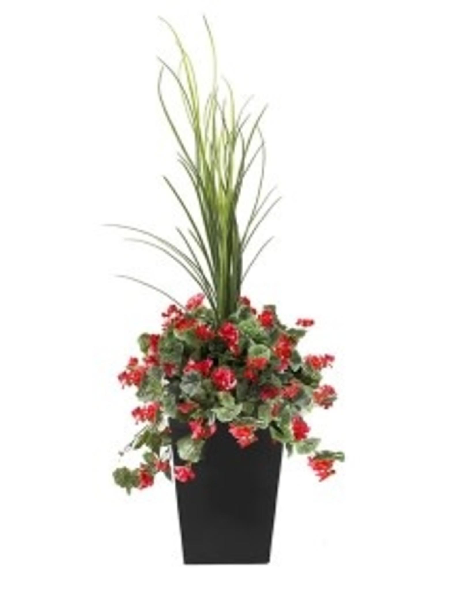 "Veronneau 40"" Outdoor red geranium planter"