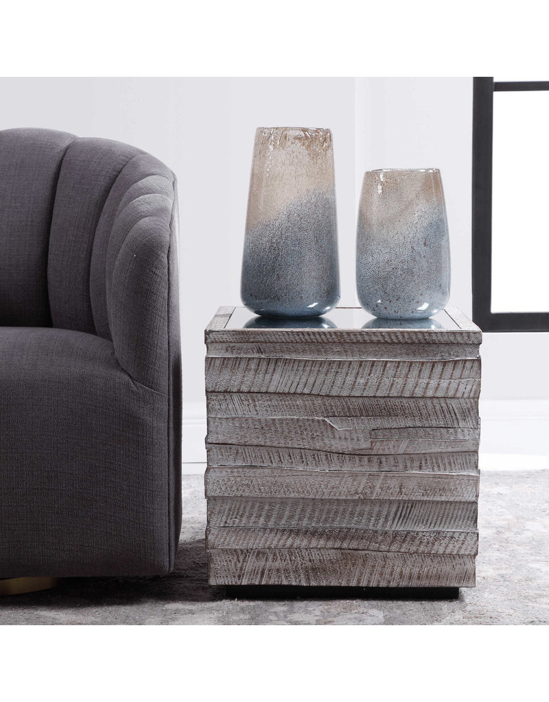 UTTERMOST messinia cube end table  24944