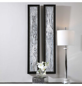 """UTTERMOST Silver Lining Art  (individual) 8"""" W x 46""""H x 2"""" D 35370"""